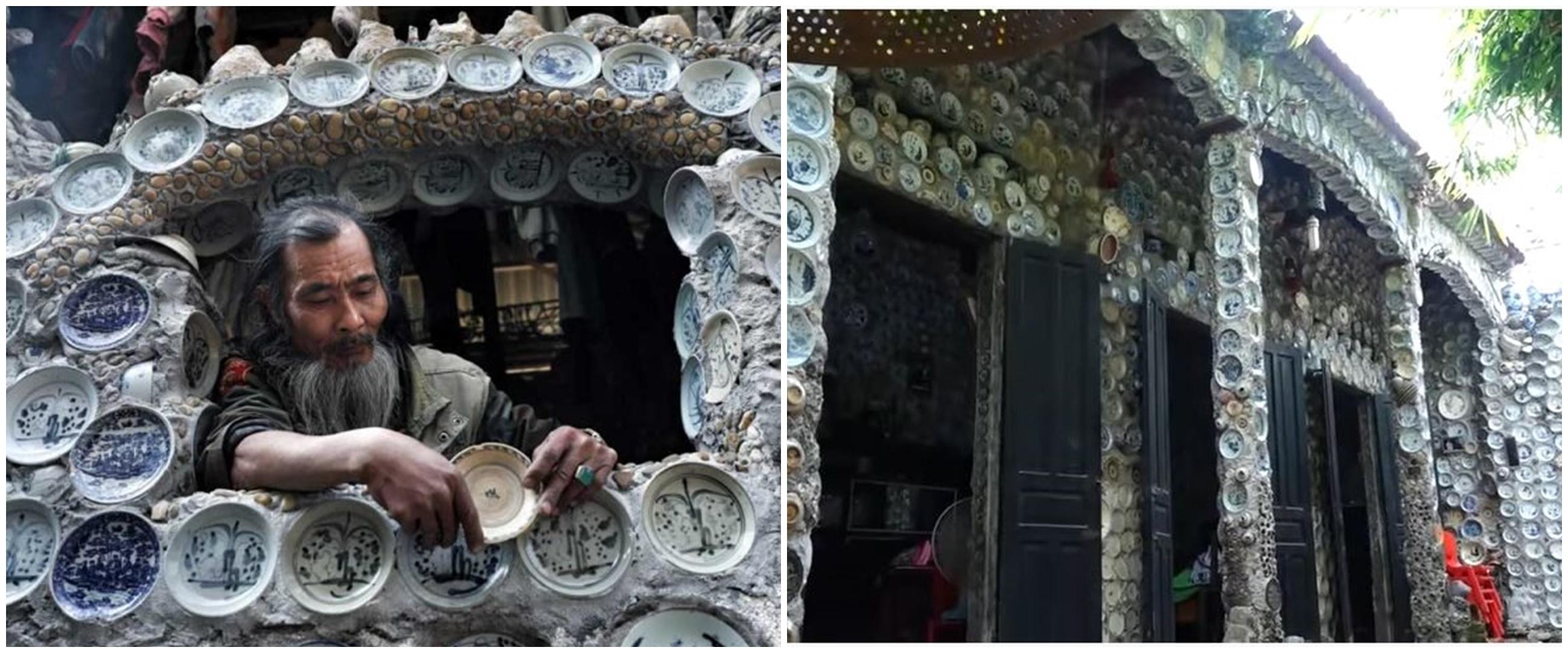 7 Potret rumah berhiaskan ribuan piring porselen ini bikin takjub