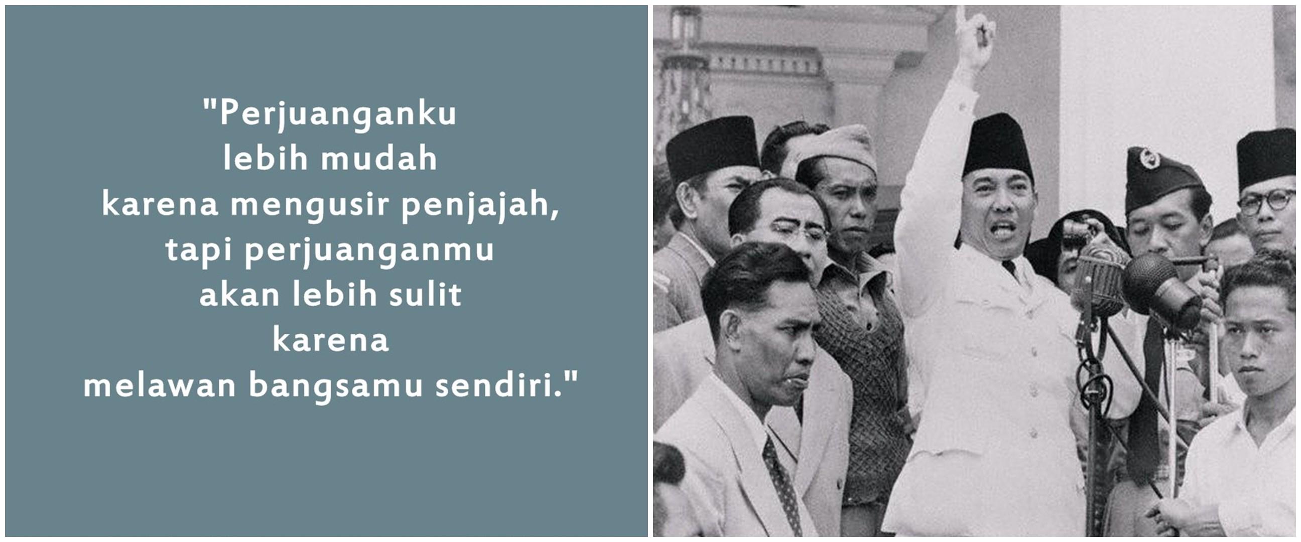 50 Kata-kata motivasi Bung Karno, cocok untuk hari kemerdekaan