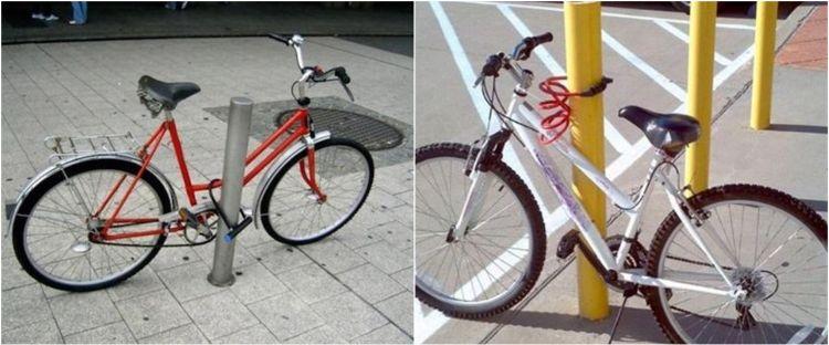 10 Potret absurd mengunci sepeda, bikin gagal paham