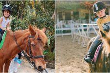 Potret seru 13 anak seleb saat naik kuda, gemesin abis