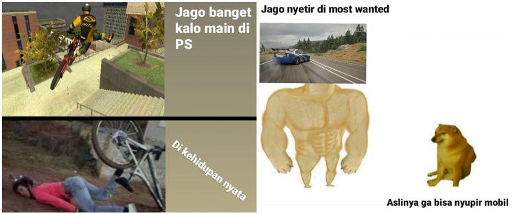 10 Meme beda main PS dengan kehidupan nyata, kocak