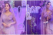 10 Potret akikah anak Tasya Farasya, nuansa ungu nan elegan