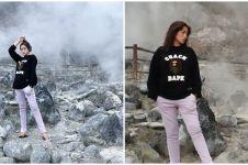 10 Momen liburan Jessica Iskandar di Tangkuban Perahu, ajak El Barack