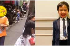 Viral bocah mirip Rafathar main di gang sempit, bak pinang dibelah dua