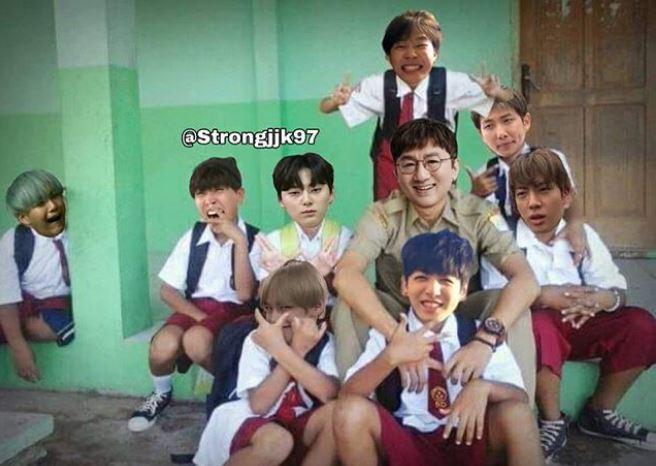 BTS anak SD Instagram