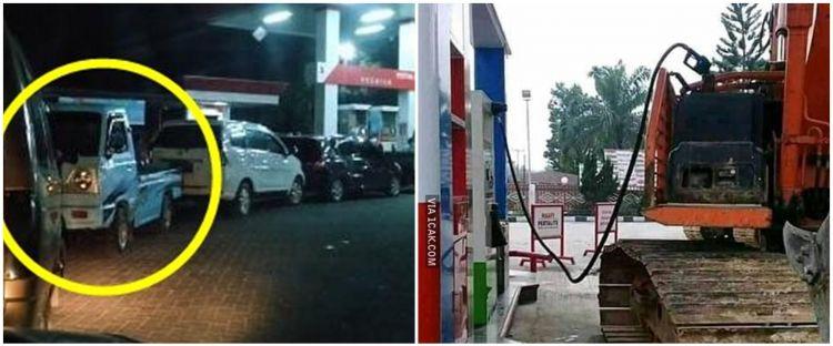 10 Momen lucu mobil di pom bensin ini bikin lihat dua kali