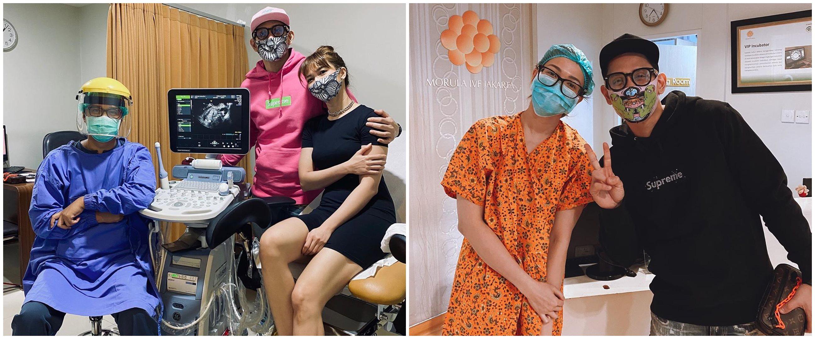 9 Potret perjuangan Andrea Dian & suami jalani program bayi tabung