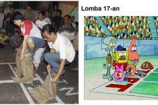 8 Cocoklogi adegan di kartun SpongeBob pas momen 17 Agustus-an