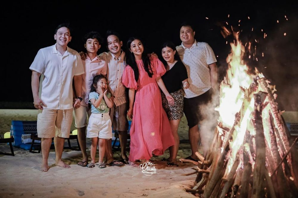 Momen liburan Ruben Onsu dan keluarga © 2020 Instagram/@sarwendah