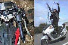 7 Potret absurd modifikasi stang motor ini bikin gagal paham
