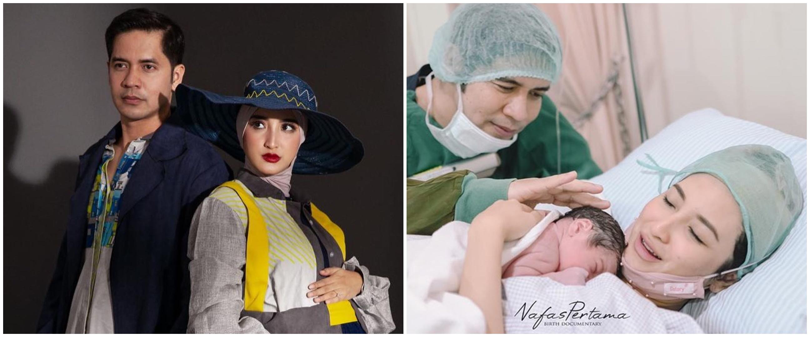 8 Momen Chaca Thakya melahirkan anak pertama, penuh haru