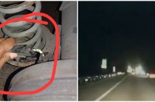 Momen mobil lolos dari tabrakan fatal dengan truk, bikin deg-degan