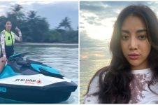 6 Momen Widi Vierratale main jetski nikmati indahnya laut Belitung