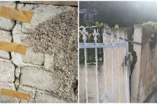 8 Potret nyeleneh perbaikan konstruksi rusak pakai benda tak terduga