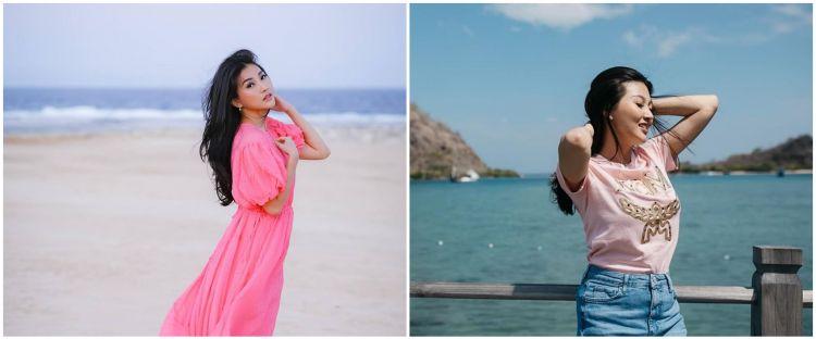 Tak pakai bikini, 7 gaya pemotretan Sarwendah di pantai ini memesona