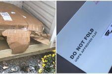 10 Potret paket kiriman rusak ini bikin jengkel, hancur parah
