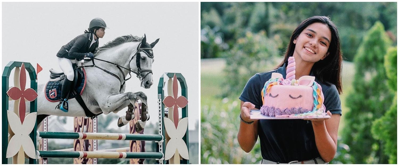 8 Pesona Charlotte Ramadhan, atlet berkuda putri Shahnaz Haque