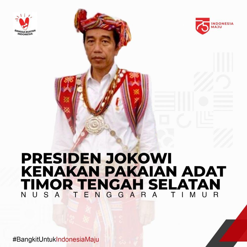 Pakaian Adat Jokowi © 2020 brilio.net