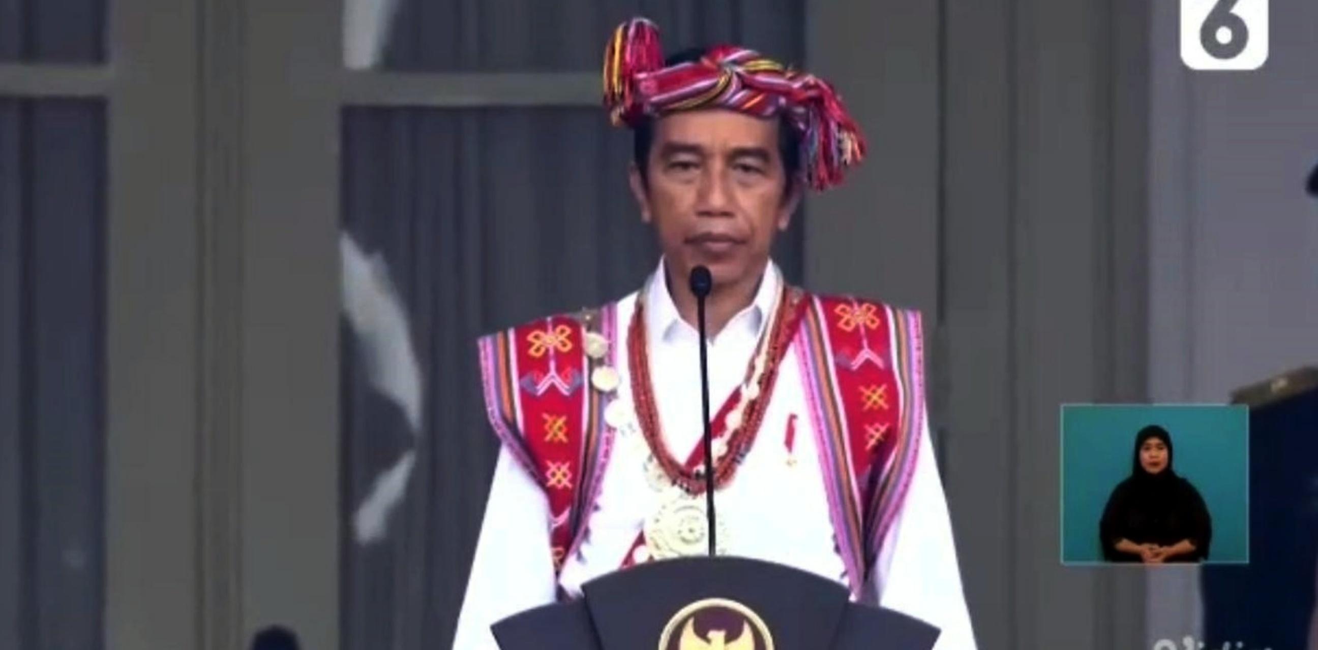 Fakta dibalik baju adat Presiden Jokowi pada upacara HUT RI Ke-75