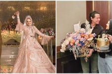 9 Momen romantis ultah pernikahan Cut Meyriska & Roger, kuenya unik