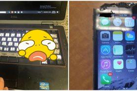 10 Potret kerusakan gadget ini bikin tukang servis auto histeris