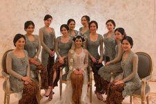 7 Gaya Nikita Willy di pernikahan Arya Bakrie, curi perhatian