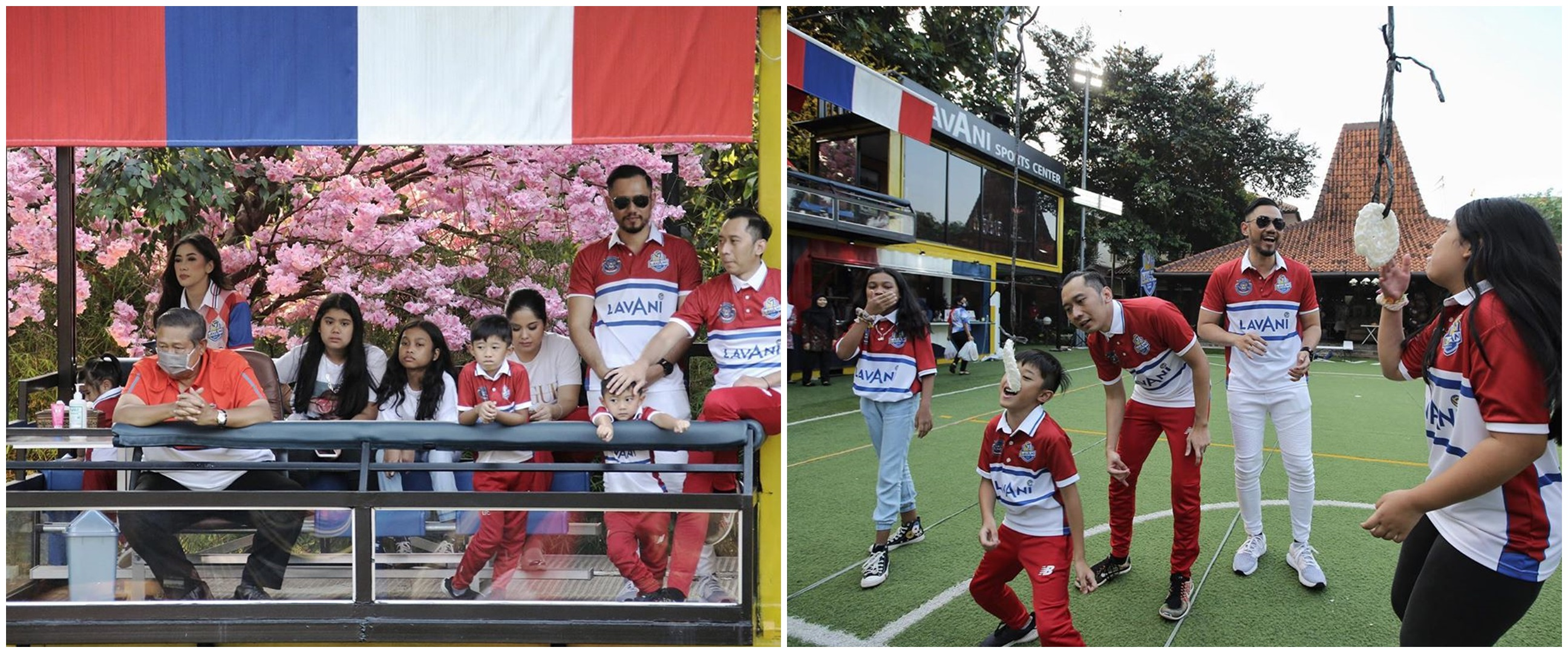 10 Potret keluarga Yudhoyono rayakan 17 Agustus, gelar berbagai lomba