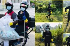 7 Potret kakak beradik pungut sampah masker bekas di jalan, inspiratif