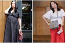8 Gaya OOTD hamil ala Ussy Sulistiawaty, simpel tapi tetap stylish