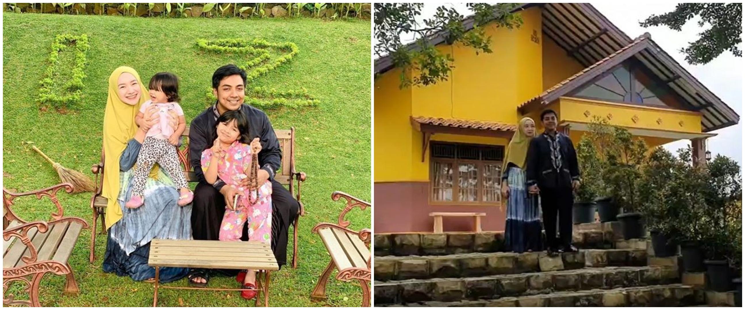 10 Potret rumah Ustaz Riza Muhammad & Indri Giana, luas dan asri