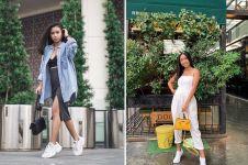 10 Potret Ayya Renita di luar syuting TOP, gayanya stylish abis