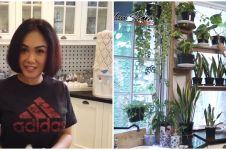 9 Potret dapur Yuni Shara, penuh dengan tanaman hijau
