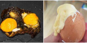 10 Momen gagal masak telur ini bikin geli campur emosi