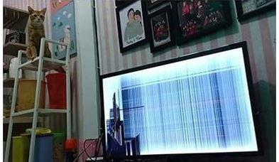 tayangan TV rusak berbagai sumber