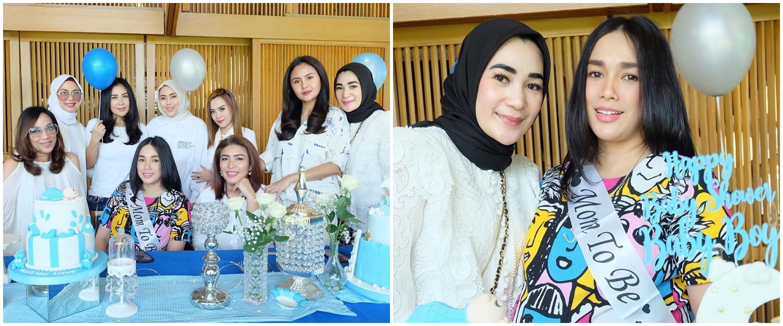 8 Momen baby shower kedua Ussy Sulistiawaty, kuenya unik
