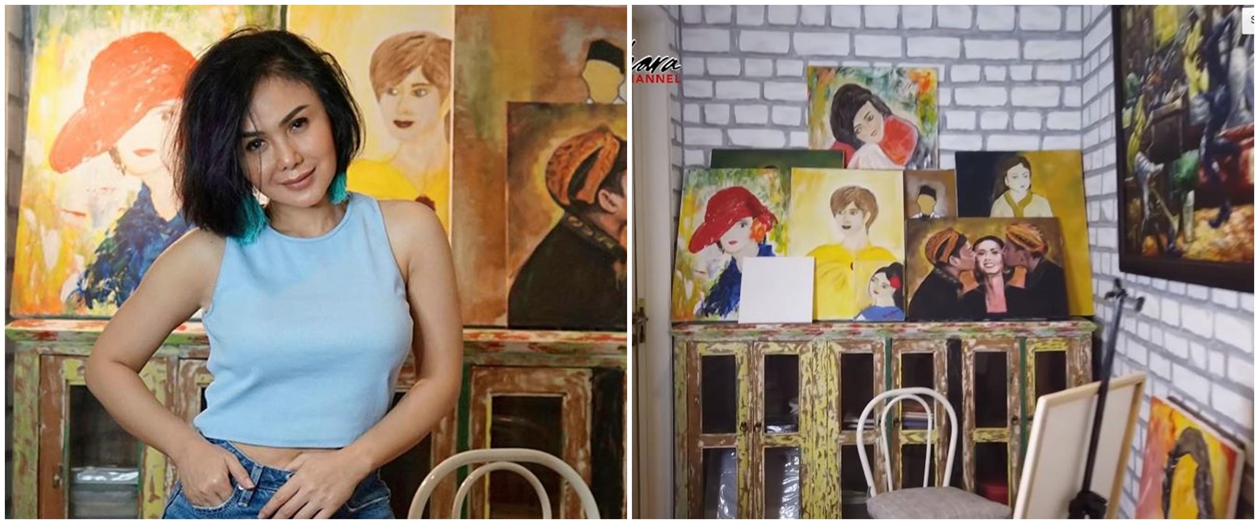 10 Potret lantai dua rumah Yuni Shara, ada ruang khusus melukis