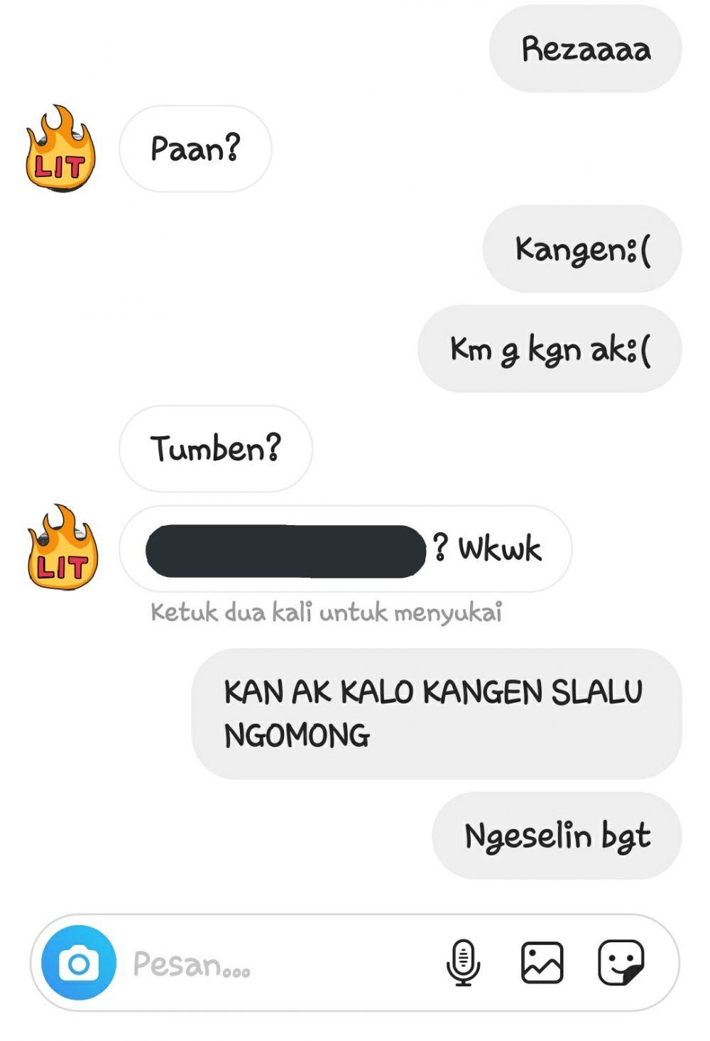 Chat bilang kangen ke mantan Instagram