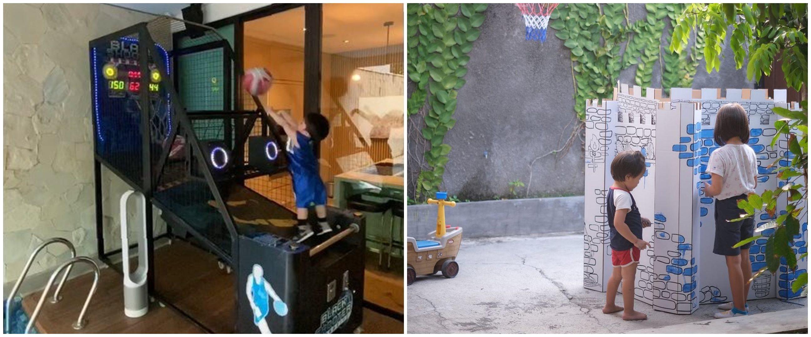 14 Potret arena bermain anak seleb di rumah, luas & wahananya komplet