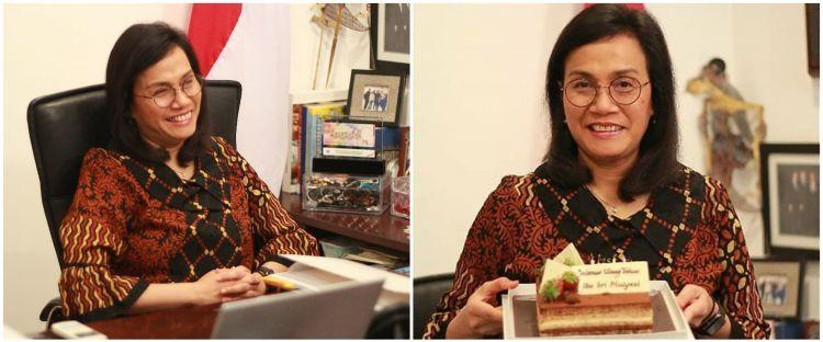 7 Momen ulang tahun ke-58 Sri Mulyani, dapat banyak kejutan