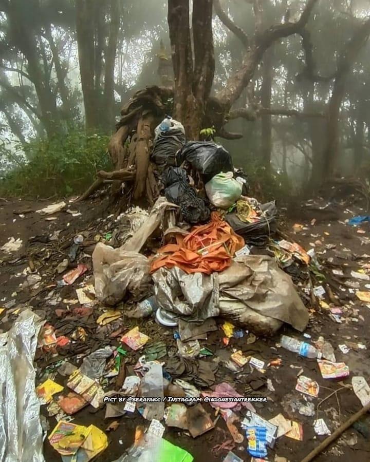 Potret sampah Gunung Dempo Berbagai sumber