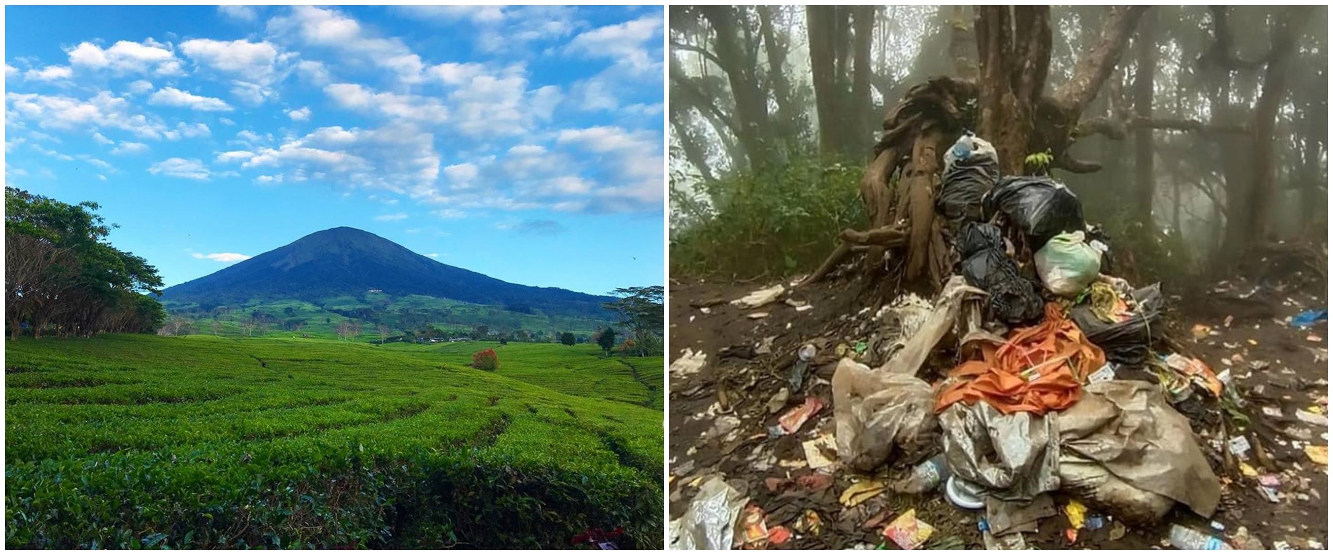 6 Potret miris Gunung Dempo di Sumatera Selatan dipenuhi sampah