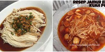 11 Resep dan cara memasak jamur enoki, favorit, enak, dan mudah