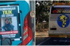 10 Tulisan lucu di belakang bus ini bikin nyengir seharian