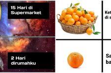 8 Meme lucu beda buah di supermarket dan di rumah, bikin angguk setuju