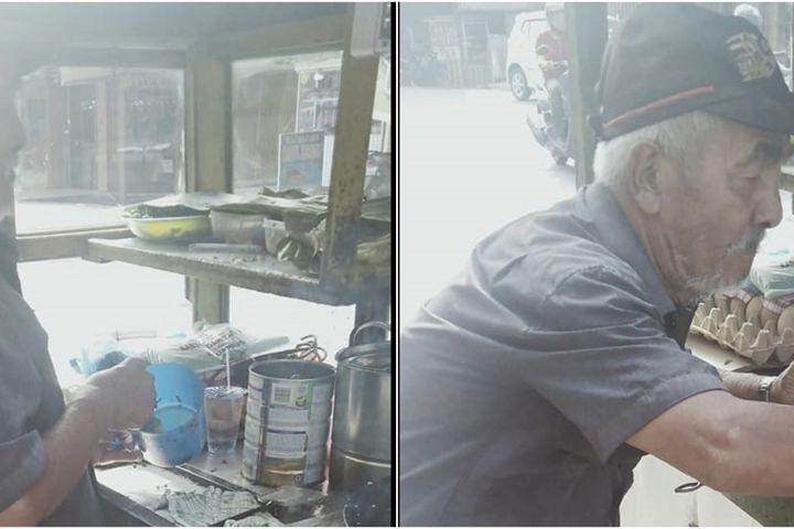 Kisah sedih kakek penderita stroke jual martabak demi istri yang sakit