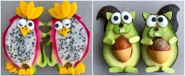 10 Kreasi makanan olahan buah berbentuk hewan, bikin nggak tega makan
