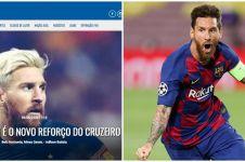Viral kabar Lionel Messi 'resmi' pindah ke klub Brasil, ini faktanya