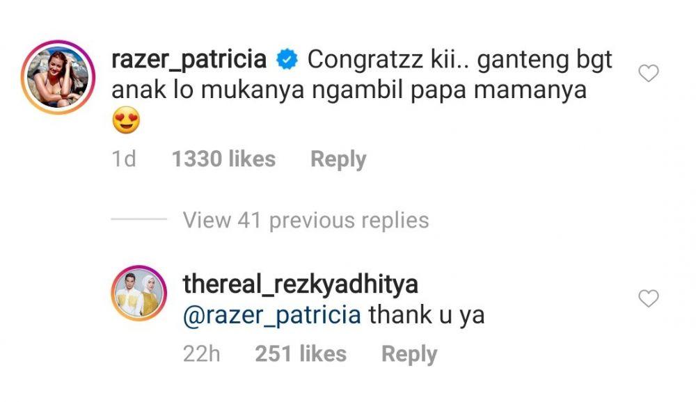 komentar Razer Patricia Instagram