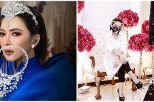8 Pesona Syahrini pakai face shield glamor, gayanya cetar
