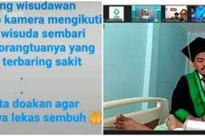 Cerita haru mahasiswa jalani wisuda online dari rumah sakit